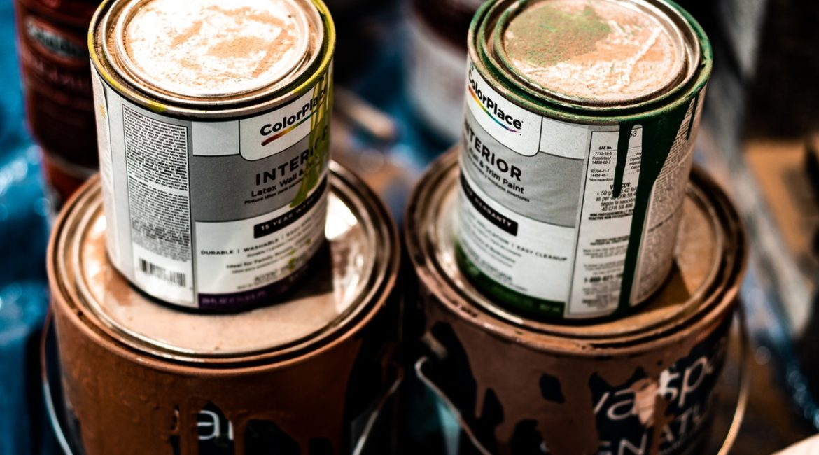 cans of interior paint